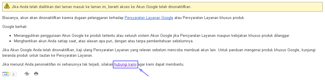 Akun Google Dinonaktifkan Bikin Panik