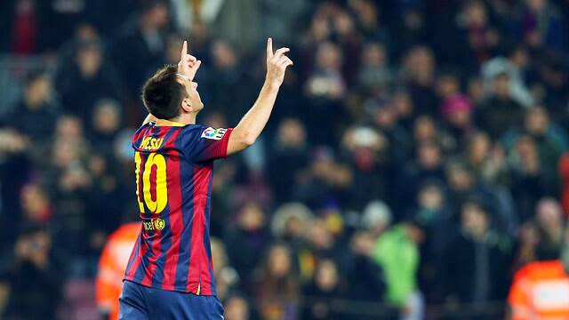 Lionel Messi Celebrating Creating History