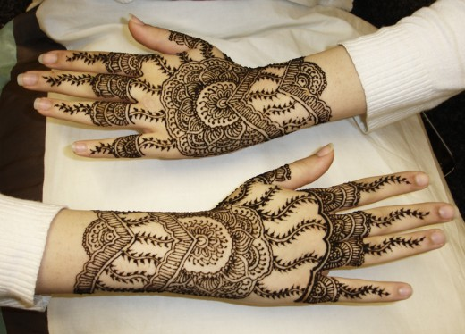 Mehndi Hairstyles Review : Pakistani eid mehndi designs u best indian asian arabic