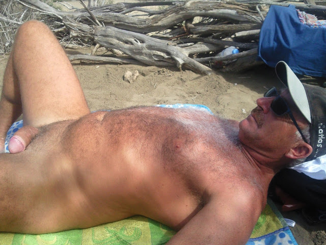 guyzbeach - silver hairy men - hot moustache - silverdaddys
