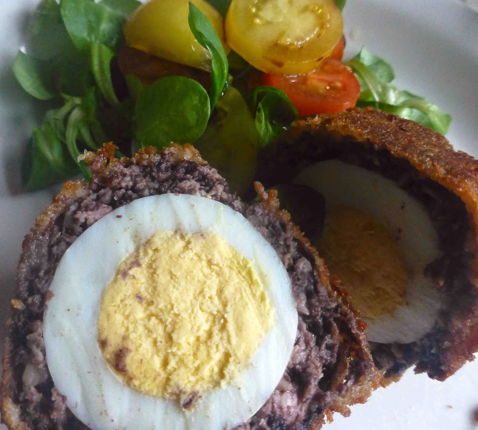 black and white pudding with an oriental touch