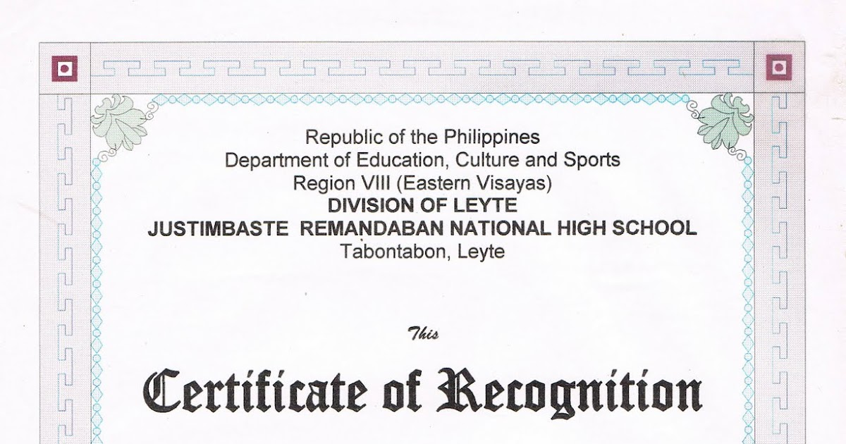 Tidbits and bytes certificate of recognition science quiz bee founder yadclub Gallery