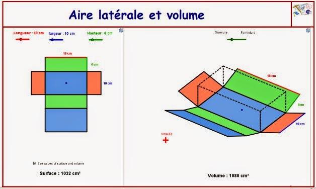 http://dmentrard.free.fr/GEOGEBRA/Maths/Nouveautes/4.25/SurfavolumeMD.html