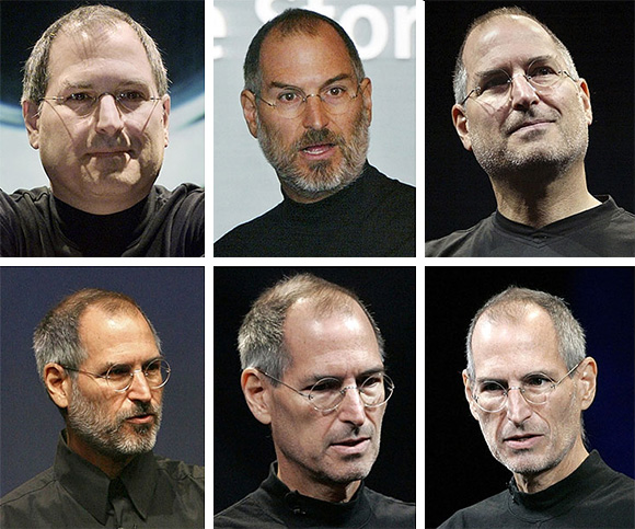 Image: STEVE JOBS FROM 2000 TO 2009