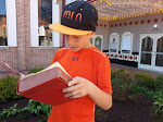 Jonah reading Shakespeare on the Square!