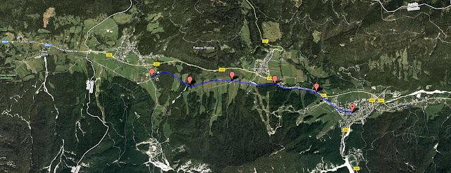 Il percorso della Kranjskogorska Desetka