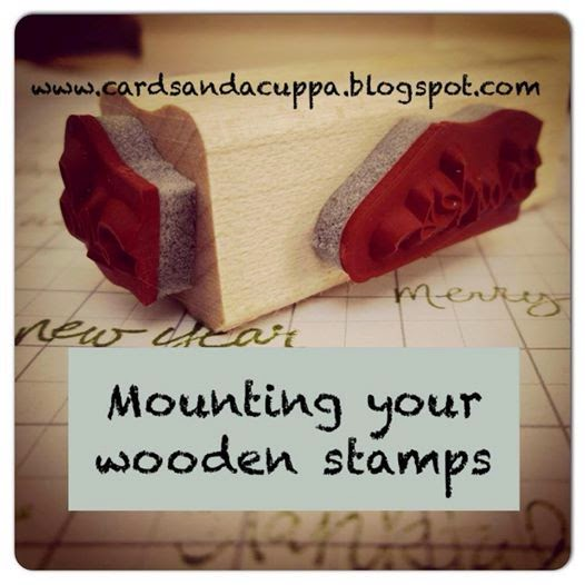 Mount your Wooden Stamps Tutorial