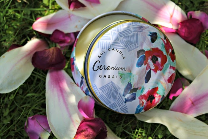 Spring's Eden Geranium Cassis candle  £16 Anthropologie