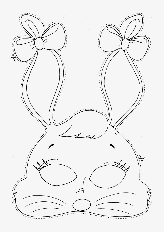Desenhos Para Colorir E Imprimir Máscara Coelhinho De Páscoa Para