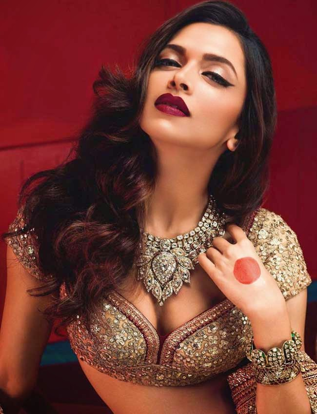 Deepika Padukone in Sabyasachi on VOGUE India