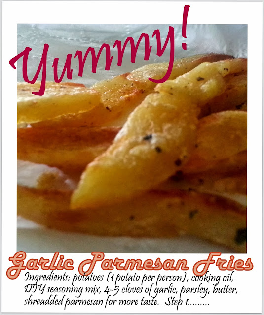 Toddler snacks garlic parmesan parsley butter fries