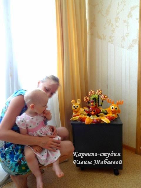фруктовое блюдо карвинг 1 годик южно-сахалинск