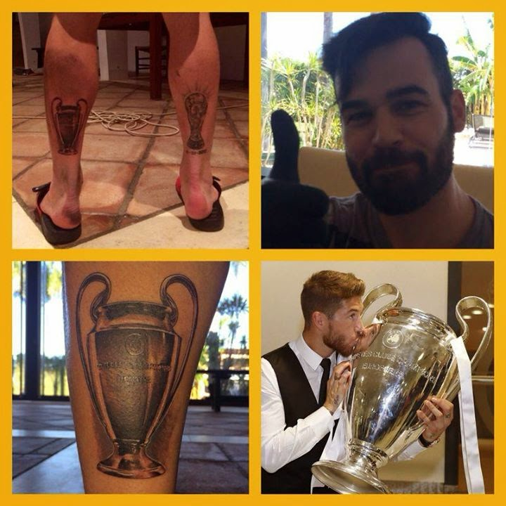 Tatuajes de Famosos : Sergio Ramos (Copa Champions League)
