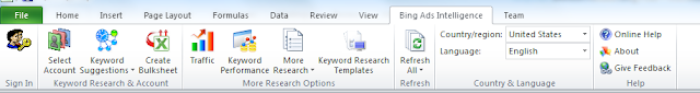 New Excel Format Related Ribbon for Bing Ads