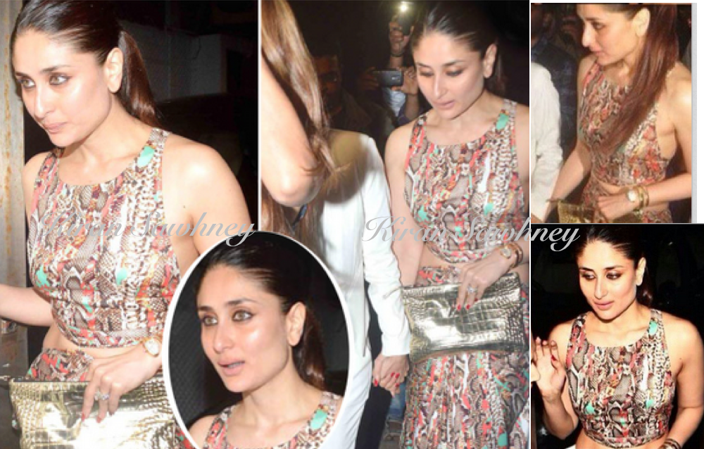 Kareena Kapoor at Zoya Aktar's party in Deme by Gabriella