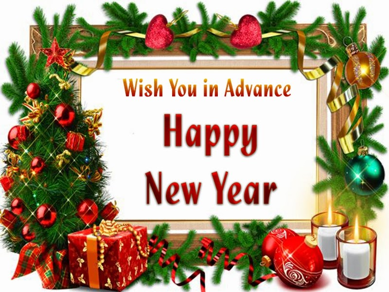 Lovely Christmas New Years Advance Wishes 2015 eCard Images