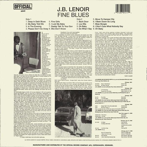 JB Lenoir Mojo Boogie