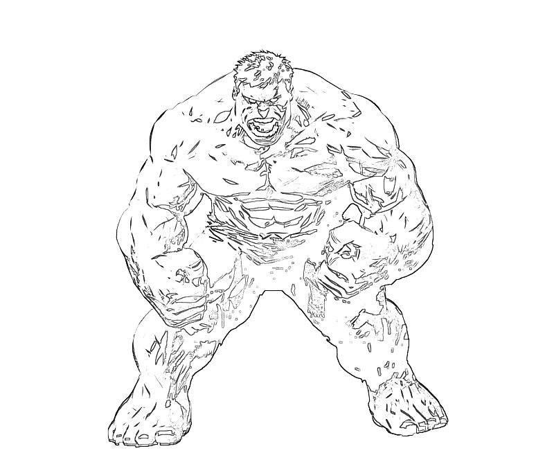 Printable Marvel Ultimate Alliance 2 Red Hulk Angry Coloring