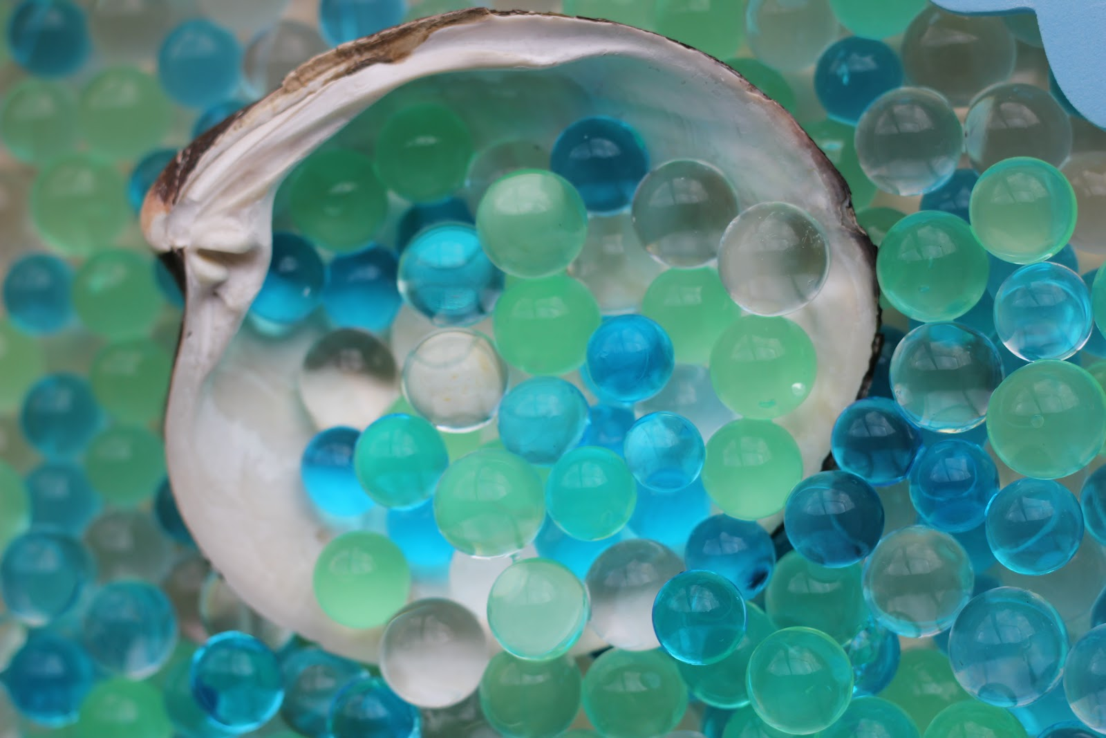 Water Bead Seaside Sensory Tub from The Imagination Tree