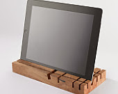 Wooden desk organiser iPad stand Düsseldorf Germany