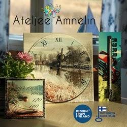 Ateljee Amnelin valmistaa käsityönä upeita kelloja ja löylymittareita