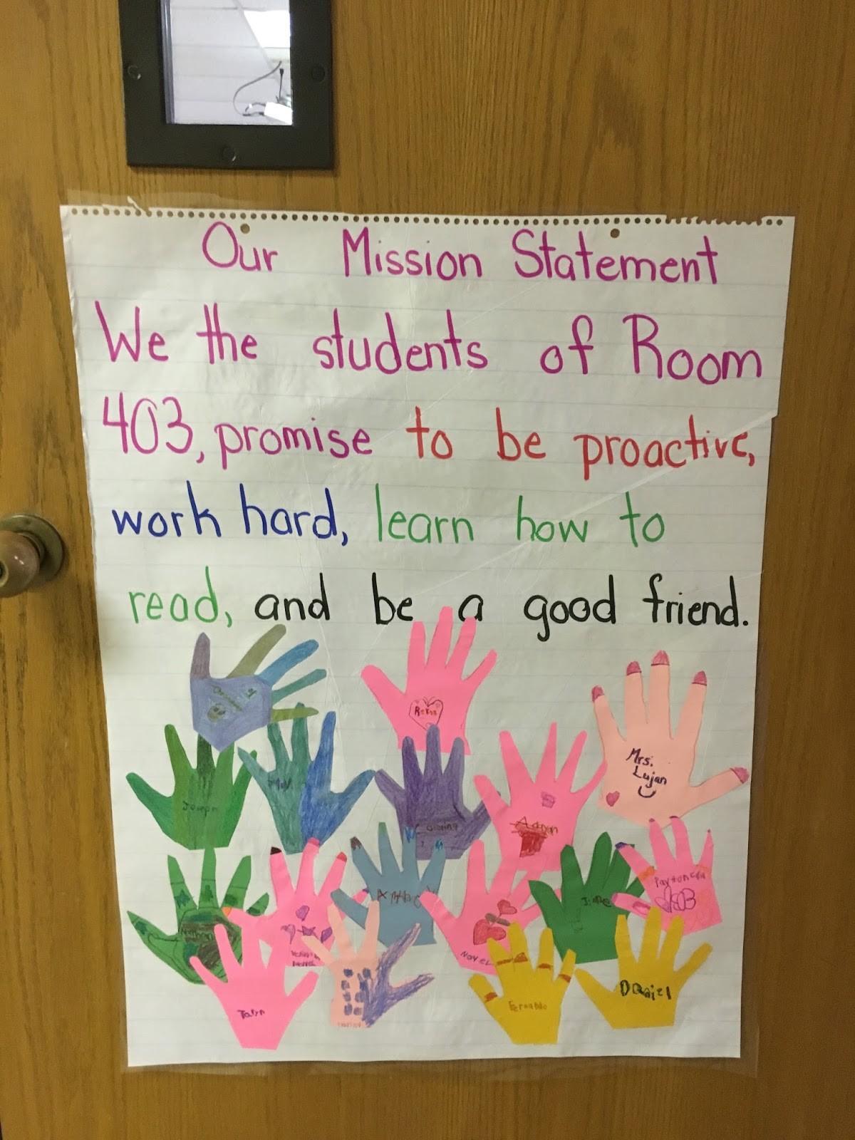 the traveling educator the teacher and students collaborated together what s important in their classroom each mission statement was different the pictures below show some of