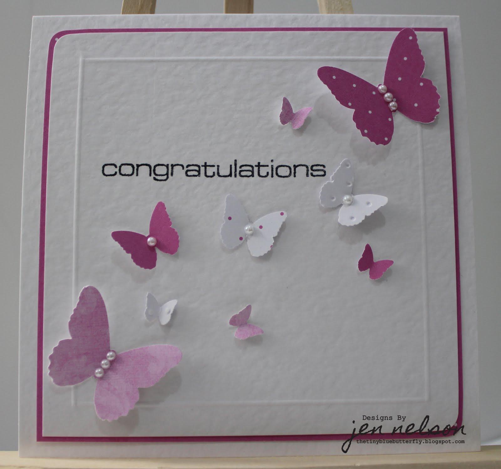 The Tiny Blue Butterfly: Congratulations Little Butterflies