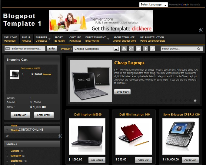 Central Of Free Blogspot Template Free Download Blogspot Template - Invoice template for word 2013 korean online store