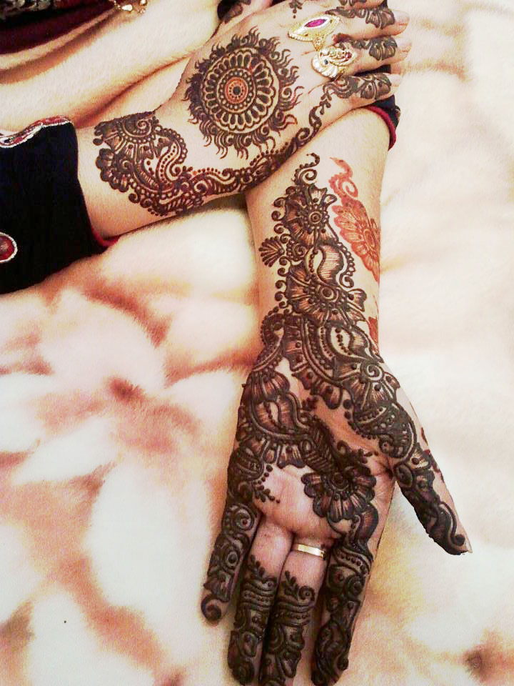 Mehndi Design New : Mehndi latest gol tikka designs