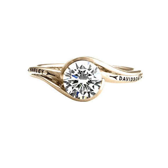 Harley davidson 174 wedding rings bridal by harley davidson 174