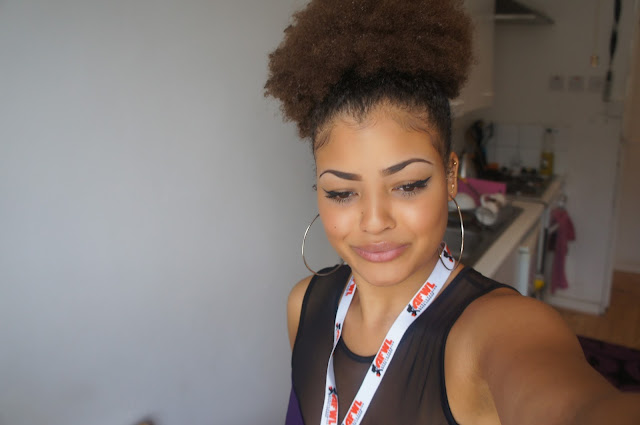 Natural afro hair afro puff 3 years natural