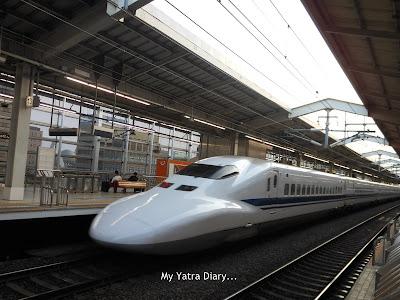 The Shinkansen Nozomi Bullet train of Japan