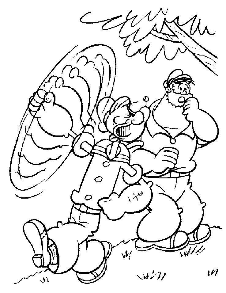 popeye coloring pages  Minister Coloring