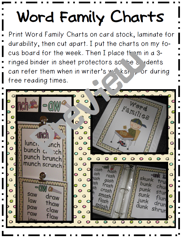 peterson u0026 39 s pad  word study questions and word family charts