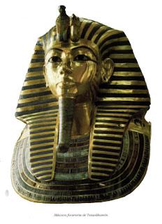 La Mascara funeraria de Tutankhamon. Egipto. La tumba de tutankhamon en el valle de los reyes.