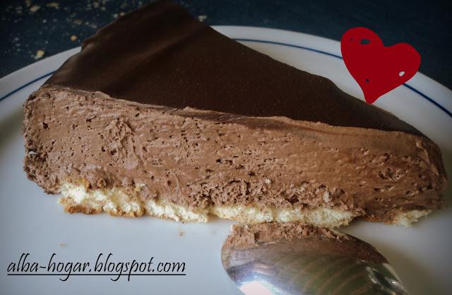 tarta mousse de chocolate alba hogar