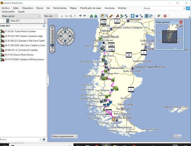 De Puerto Montt a Punta Arenas. 2352 km por la Carretera Austral (Chile) y la Ruta 40 (Argentina).