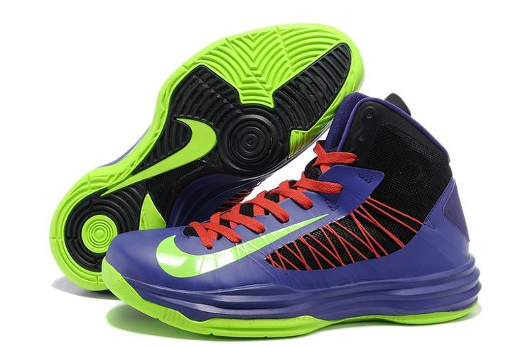 Nike Lunar Hyperdunk 2012 Black Purple Neon Green Red  Nike Shoes