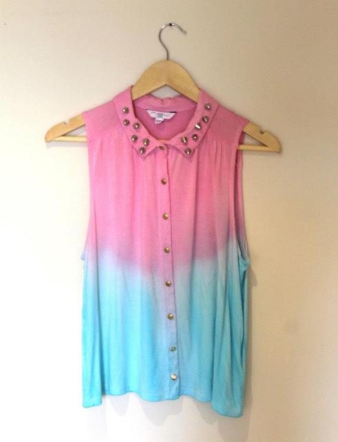 Dip dye sleaveless shirt