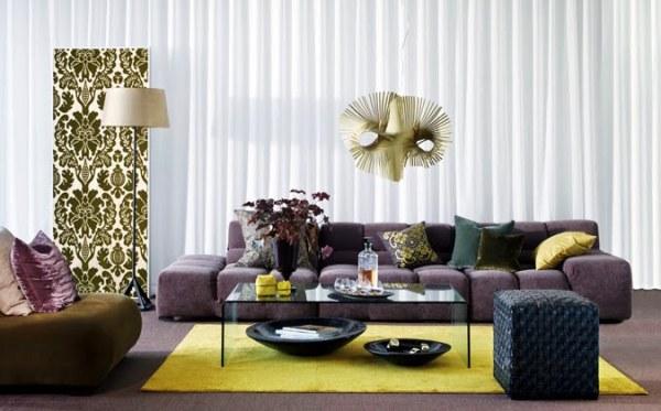 decoracao de sala lilas : decoracao de sala lilas:Glamour e Glacê: Casa: Salas de Estar em tons de Roxo e Lilás