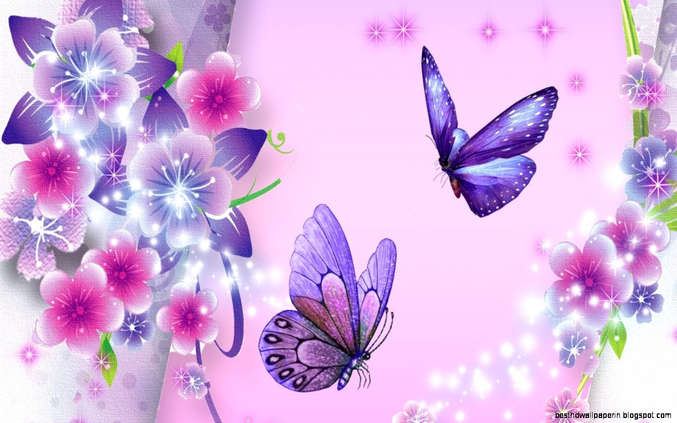animated flowers and butterflies spring wallpaper best