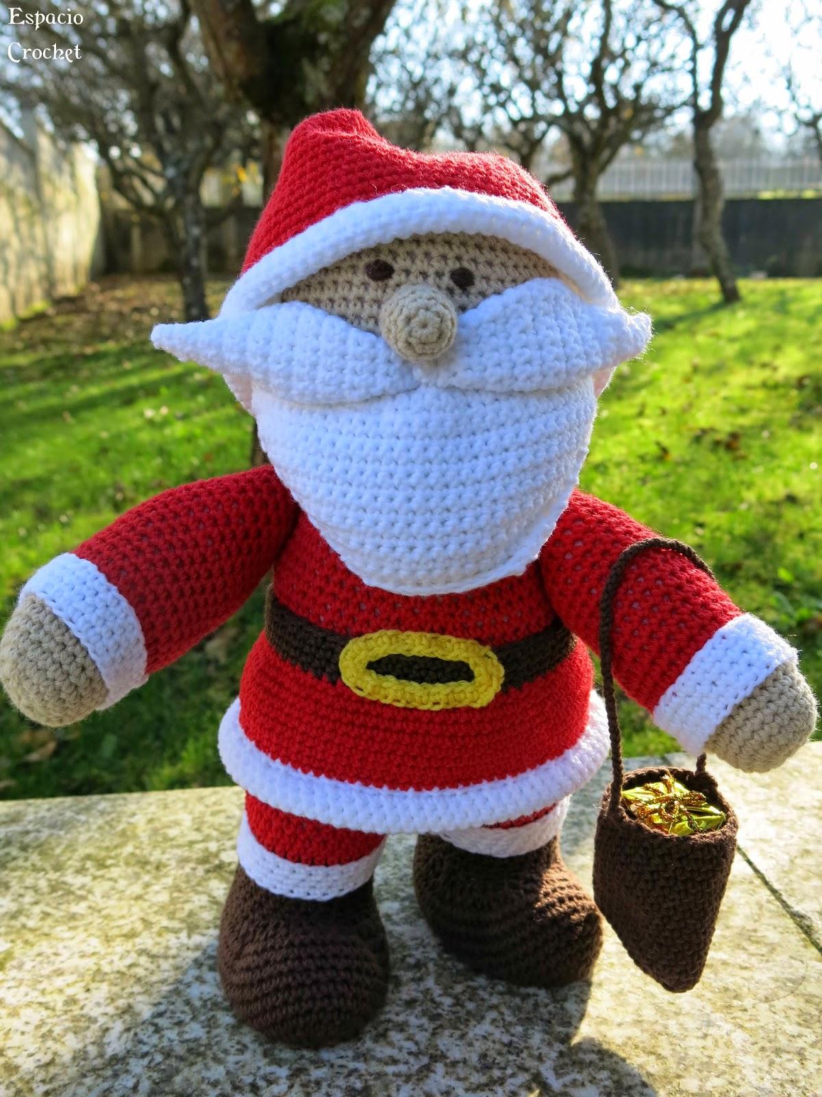 Papá Noel Amigurumi   Espacio Crochet