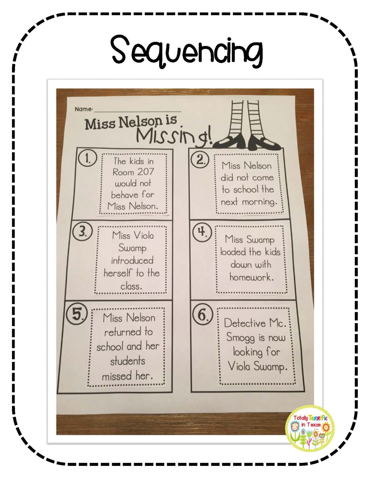 Totally Terrific in Texas July 2015 – Miss Nelson is Missing Worksheets