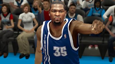 NBA 2K14 Kevin Durant Next-Gen Face Mod