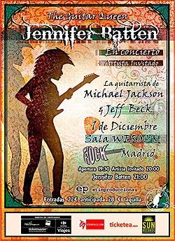 Concierto de Jennifer Batton en Madrid en diciembre
