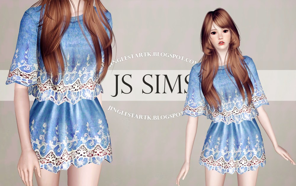 Sims Lace Denim Top Skirt