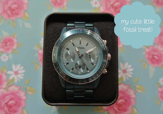 fossil stella watch teal