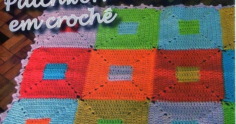 Tapete Patchwork Simples : Artesanato que Voc? Pode Fazer!: Tapete de Croch? em Patchwork