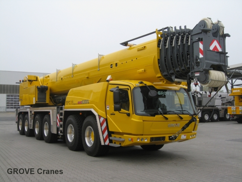 Grove cranes grove gmk 6300 l 300t class at crane for Crane grove