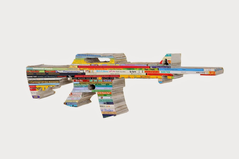 AR-15 made from Childrens Books
